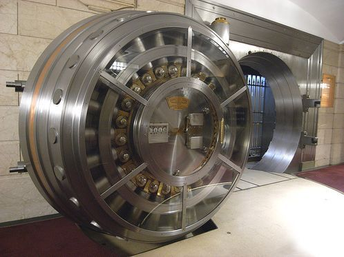 Giant Bank Vault Door - Open