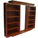 Hidden sliding bookcase door