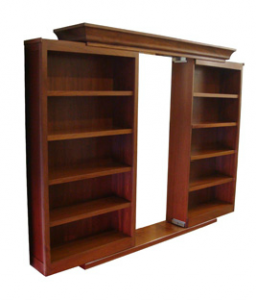 Sliding bookcase door