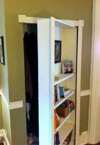how to make a bookshelf door