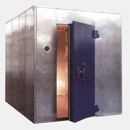 Modular Bank Vault with Reinforced Door