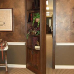 Custom swing-out secret bookcase door