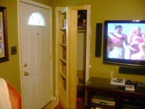 Hidden Swing-Out Bookcase Door