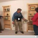 How to turn closet door into bookcase