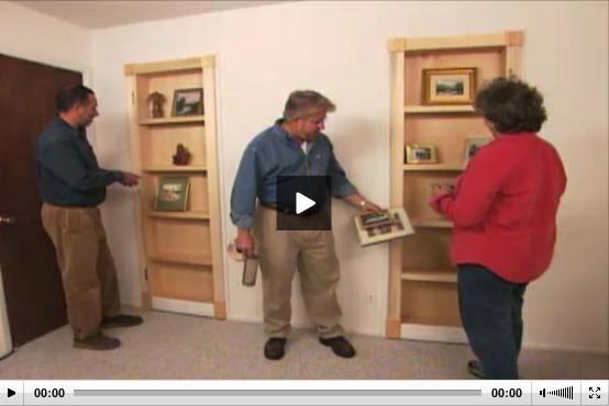 how to turn a bookcase into a door