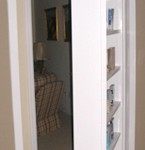 Swing-out secret bookcase door