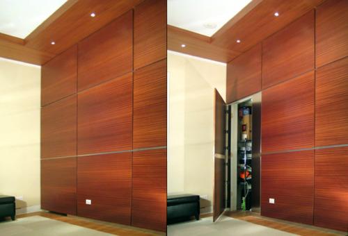 Secret Door Hidden Behind Wall Panel Stashvault