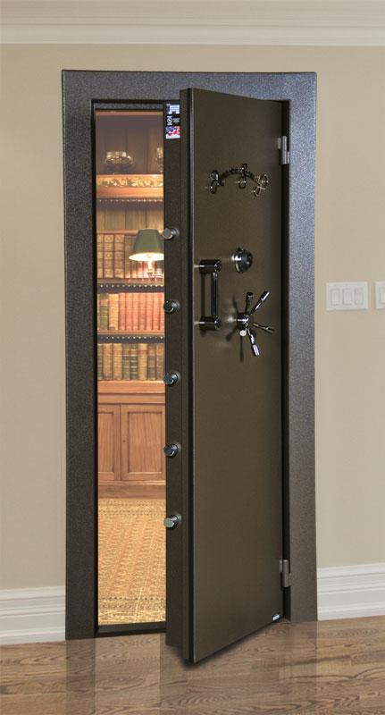 Amsec secure vault door stashvault for Vault rooms