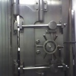 Antique Mosler bank vault door