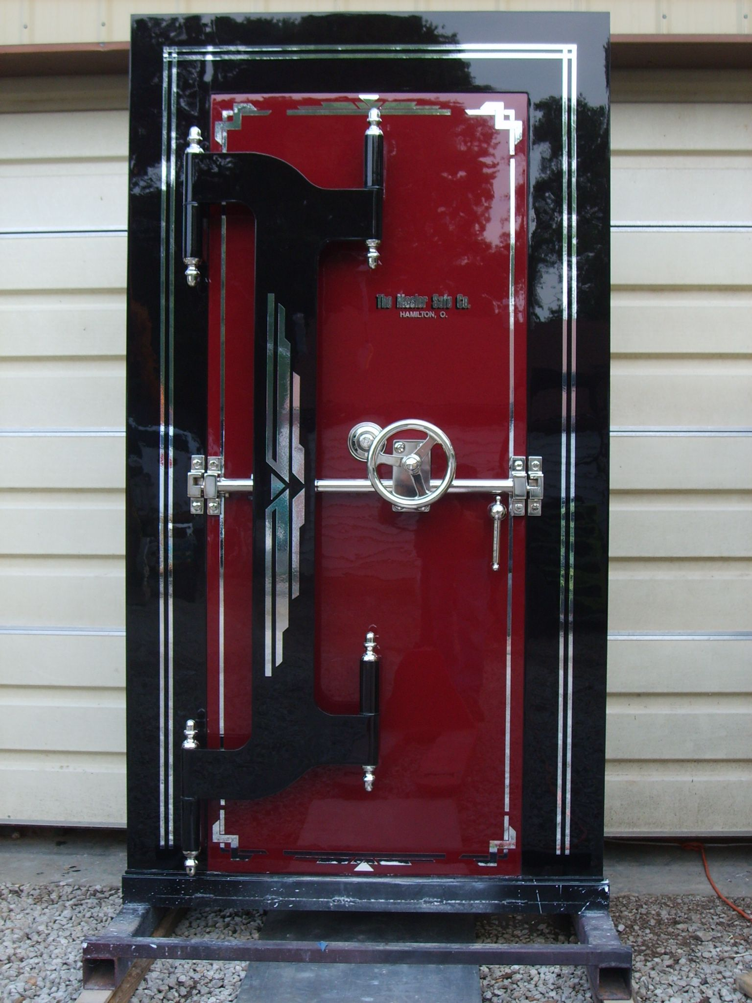 Restored mosler safe vault door stashvault Vintage garage doors for sale