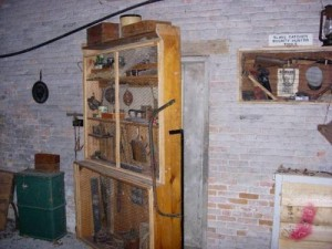 HIdden Underground Railroad Passage Behind Tool Cabinet Door