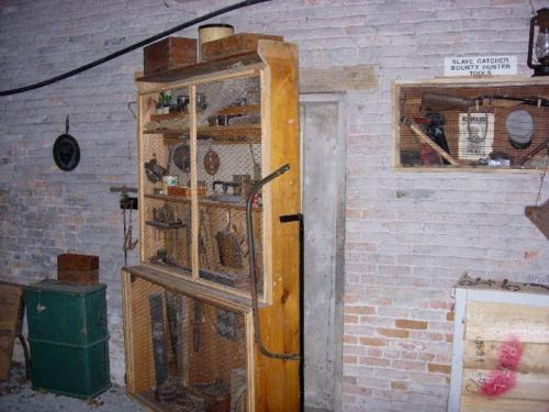 Secret Underground Railroad Door Behind Tool Cabinet