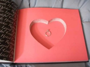 Hidden Heart Compartment in Hollow Book Safe