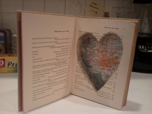 Secret Compartment Book Safe with Heart Shaped Cutout