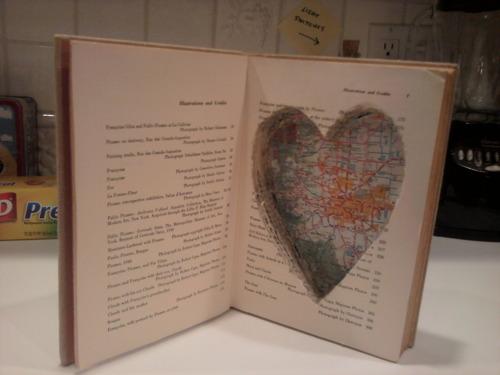 Secret Hollow Book Safe with Heart Cutout