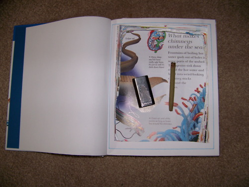 Homemade secret hollow compartment book safe