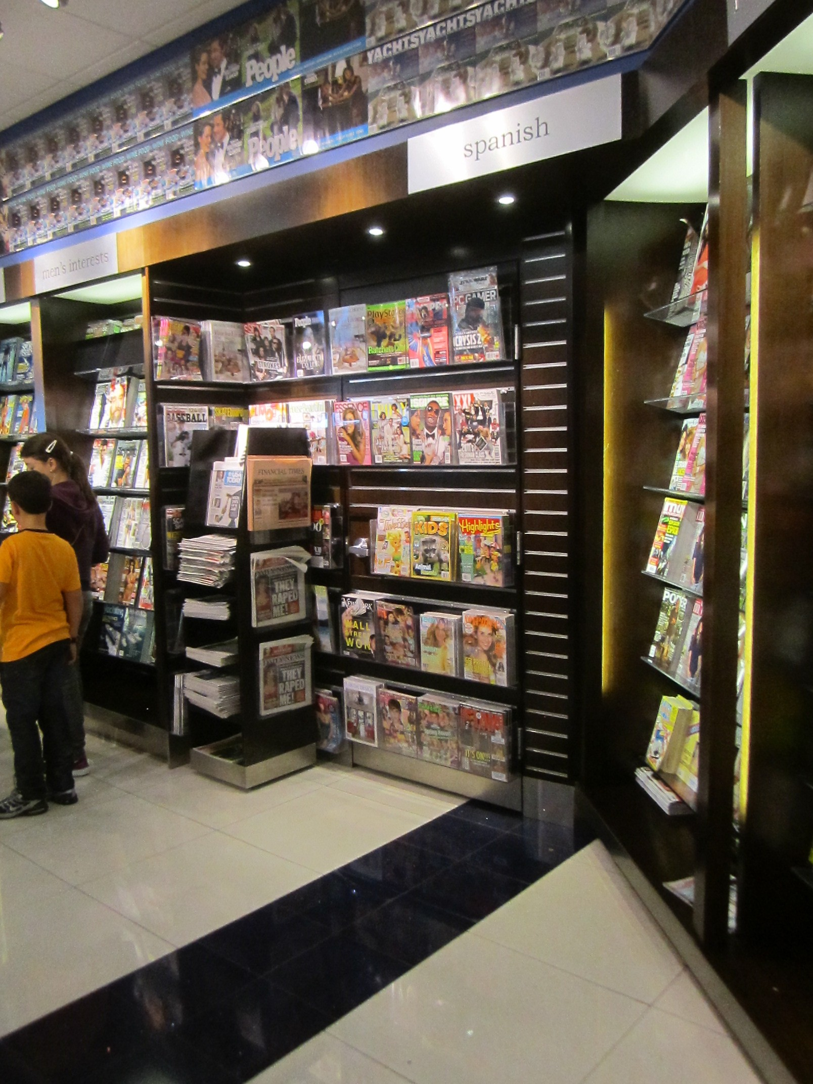 Secret door in ariport bookstore