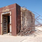 Bank vault in Nevada test site after atomic blast