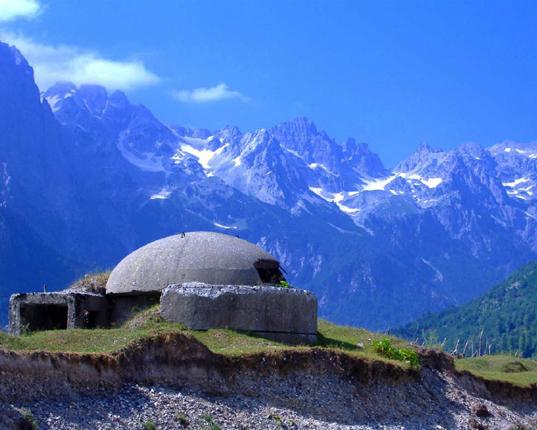 Concrete Mushroom Bunker in Albania