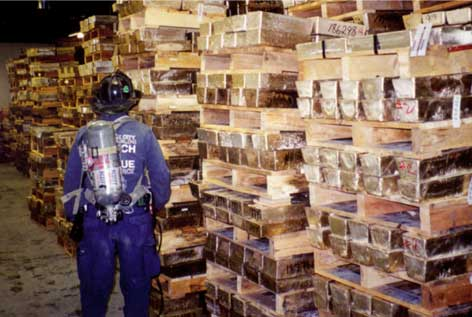 Gold Bullion in Vault Below Ground Zero