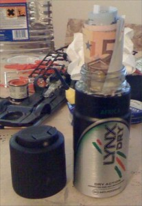 Spray can stash safe DIY