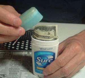 How to make a secret deodorant stash can safe