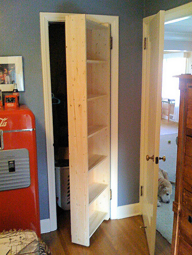 Secret Bookshelf Door for Closet