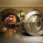 Vault door in the Bedford Restaurant in Chicago