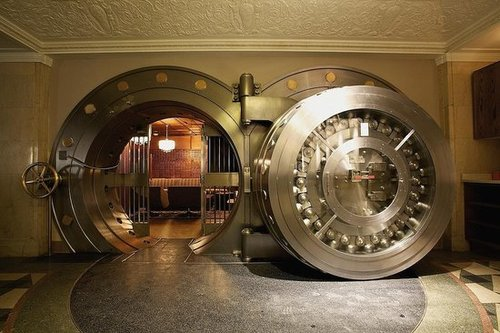 Vault Room Door at the Bedford in Chicago, IL