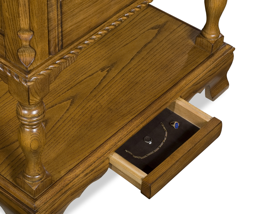 Secret furniture storage compartment in table