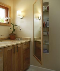 Secret Cabinet Hidden Behind Full Length Mirror