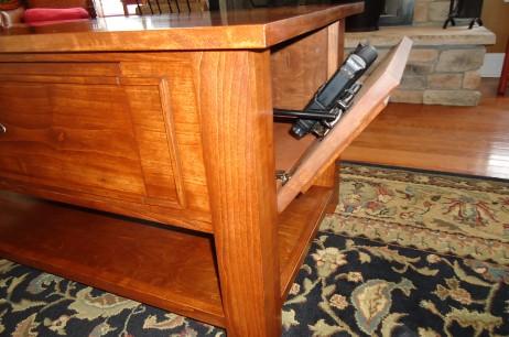 Coffee Table With Secret Gun Stash Compartment Stashvault