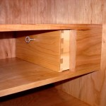 Secret compartment drawer concealed in shaker desk furniture