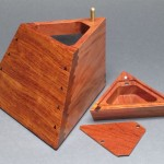 Hidden Compartment Trapezoid Jewelry Box
