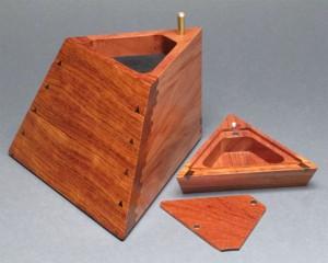 Hidden Compartment Trapezoid Jewelry Box