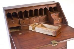 Secret second drawer hidden in desk