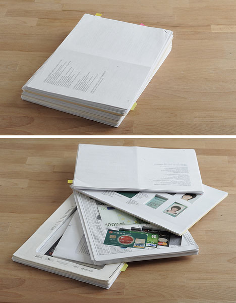 Documents Concealed in Paper Stack