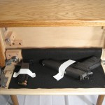 End Table with Secret Firearm Compartment