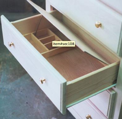 False bottom drawer in dresser