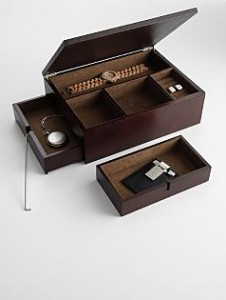 Secret Compartment in Wooden Valet