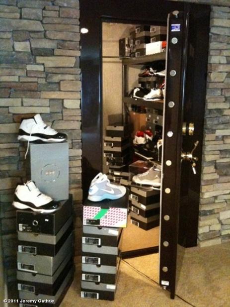 Orioles Pitcher Jeremy Guthrie's Shoe Vault