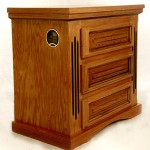 Furniture with built-in firearms safe and biometric lock