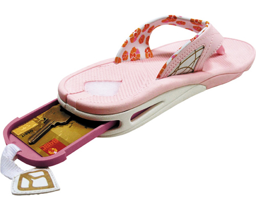 Pink Reef Stash 2 Sandal with Secret Compartment : StashVault