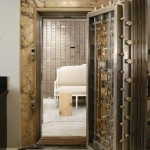 Stainless steel bank vault door