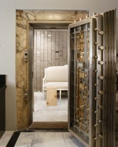 Stainless steel bank vault door