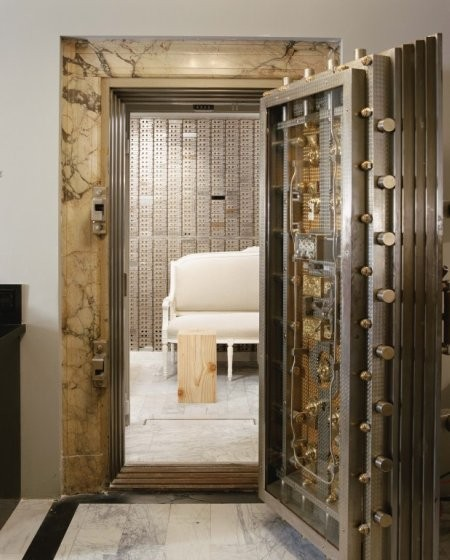 Room with Bank Vault Door