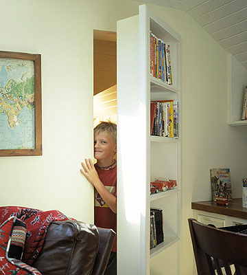 Secret Bookcase Door Swing Out Stashvault