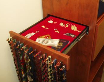 Hidden Compartment Drawer Safe