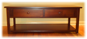 Amish handmade table with secret compartments