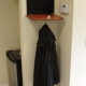 Hidden In-Wall Safe Concealed as Coat Rack
